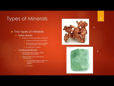 Project: Formation of Mineral Deposits *see description box below*