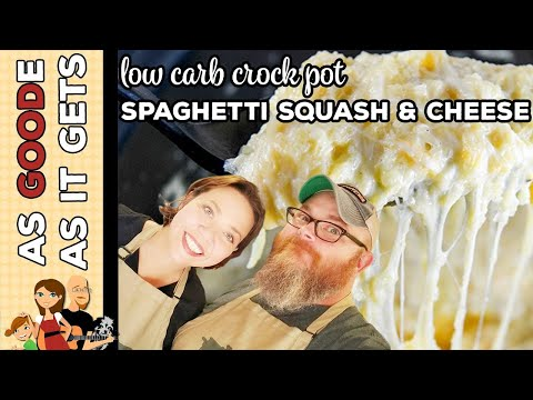 Crock Pot Cheesy Spaghetti Squash (Low Carb)
