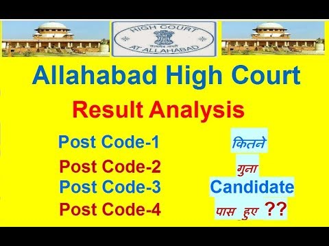 Allahabad High Court Result Analysis Post Code- 1, 2, 3 & 4
