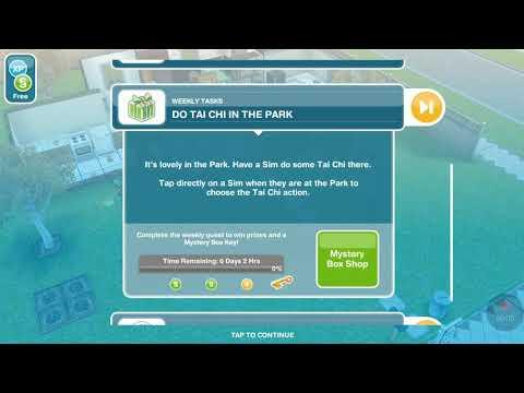SIMS FreePlay - Weekly Tasks - Do Tai Chi Ini The Park