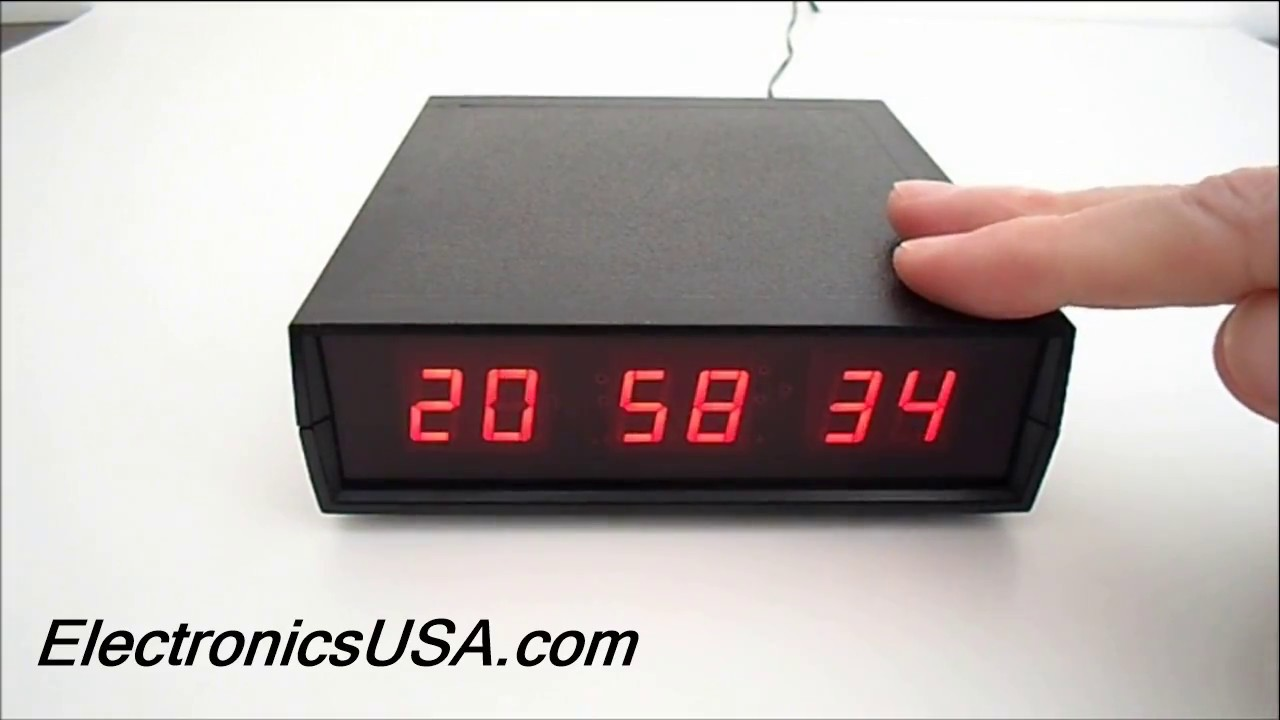 Ck 1 Led Digital Desk Clock 12 Or 24 Hour Electronics Usa