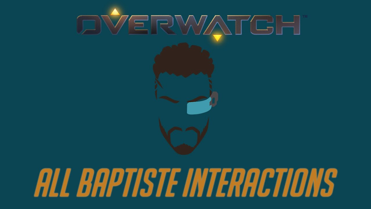 Overwatch - All Baptiste Interactions + Unique Kill Quotes