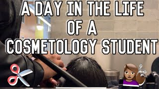 A DAY IN THE LIFE OF A COSMETOLOGY STUDENT Vlog! | KDiani KDVlog #2