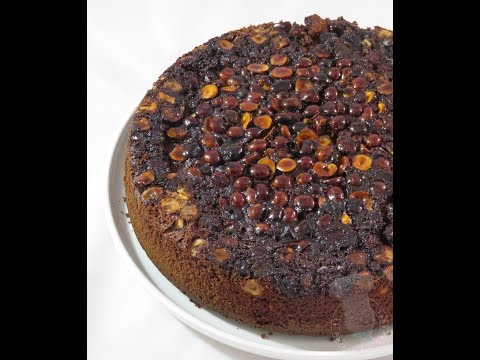 recette-de-gâteau-renversé-chocolat-noisettes