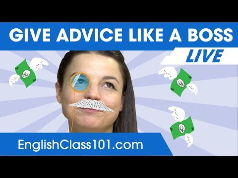 How to Give Advice Like a Boss in English 🔴