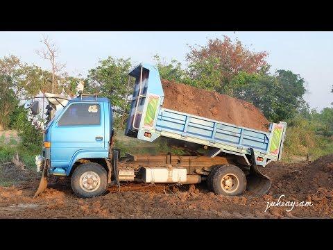 รถดั้มหกล้อ เทดิน รถบรรทุกขนดิน Dump trucks