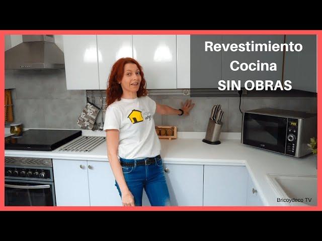 Renovar la pared de la COCINA SIN OBRAS y  SIN POLVO - Fácil y Rápido