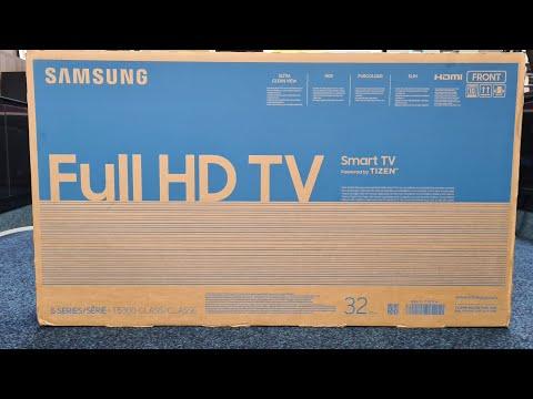 "Samsung 2020 32T5300 32"" Series 5 Smart TV Unboxing, Setup and Demo Vídeos,"