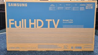"Samsung 2020 32T5300 32"" Series 5 Smart TV Unboxing, Setup and Demo Videos,"