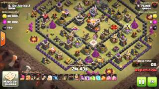 [Clash of Clans] Qw Split Hero LaLoon |TH10 VS TH11| 3stars #110