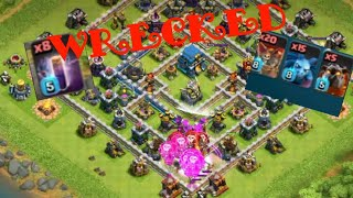 Bat spell dominating th12... 3 star attack