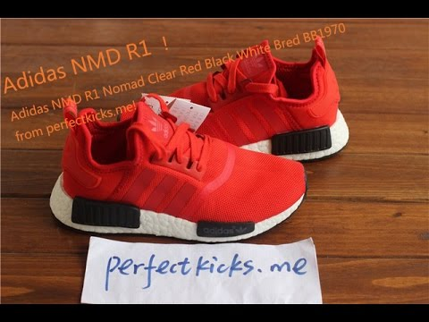 3f1952e7f Adidas NMD R1 Nomad Clear Red Black White Bred BB1970 from perfectkicks.me!