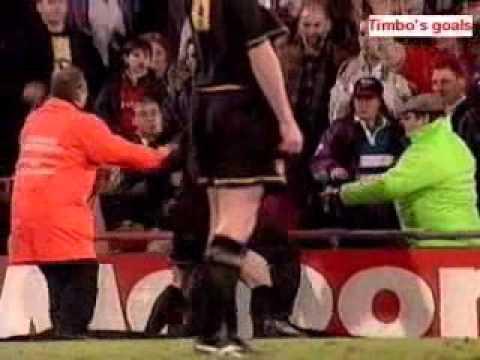 Leave him off, he's french! Eric Cantona Dropkicks A Fan Youtube