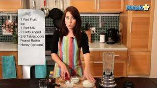 How To Make A Healthy Peanut Butter And Jelly Smoothie