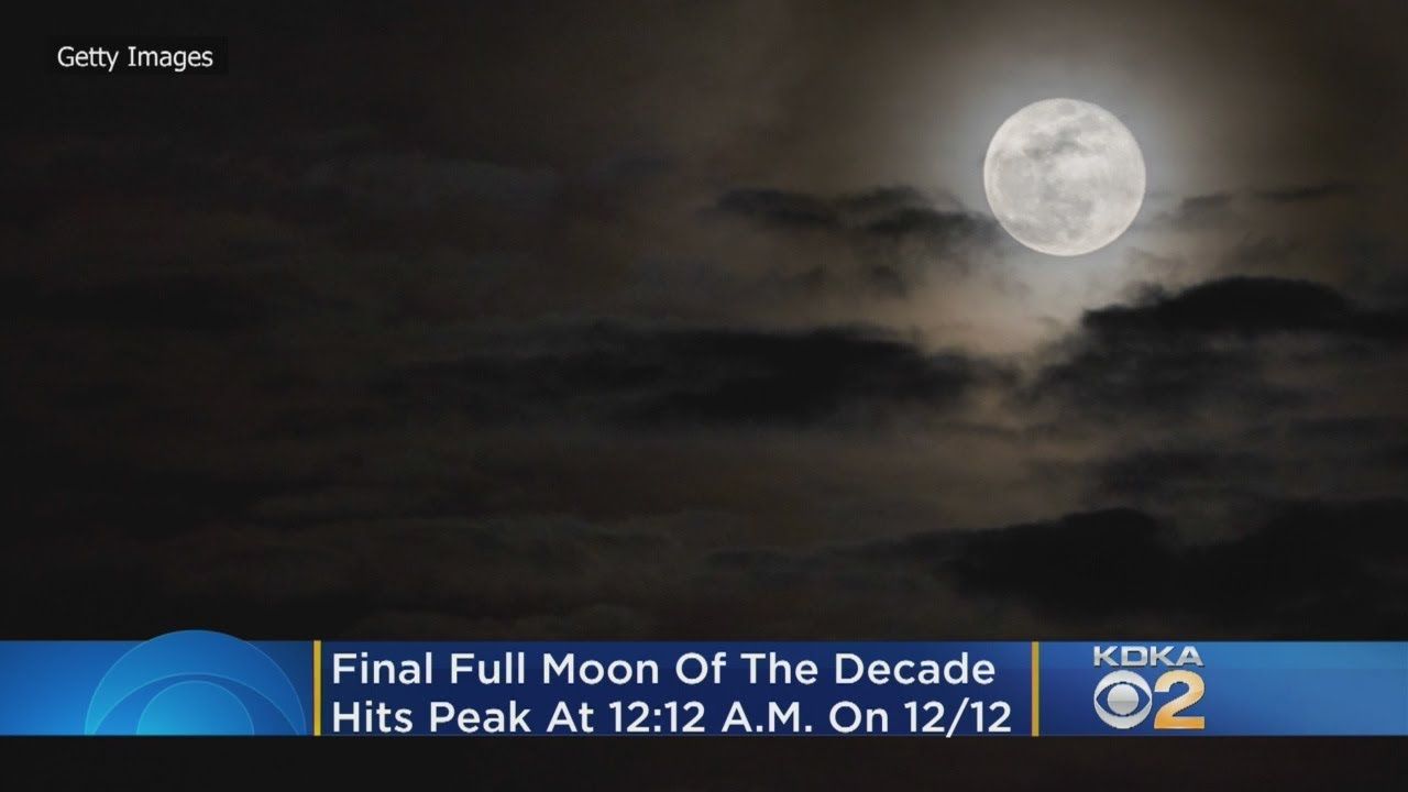 December 'cold' full moon is the decade's last