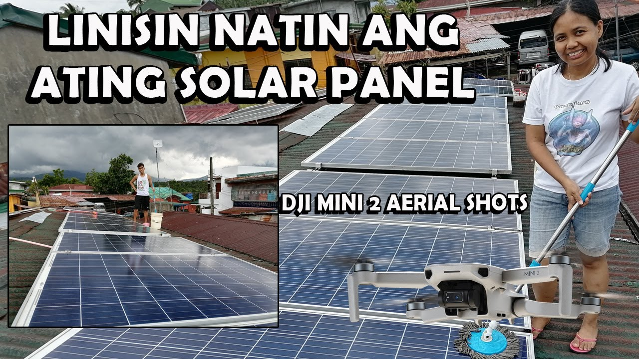 Solar panel cleaning | Gridtie set-up and hybrid off grid set-up | dji mini 2 aerial footage