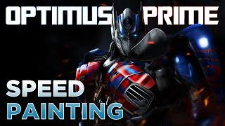 optimus prime speedpainting tf4 aoe