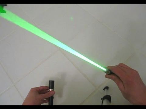 diy: how to modify a green laser pointer into a burning laser