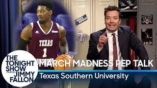 Jimmy Gives a March Madness Pep Talk to Texas Southern University