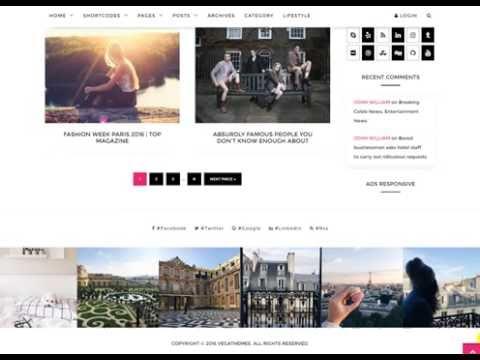 Downlaod Free VegaBlog  Clean & Versatile WordPress Blog WP Theme With Project Files