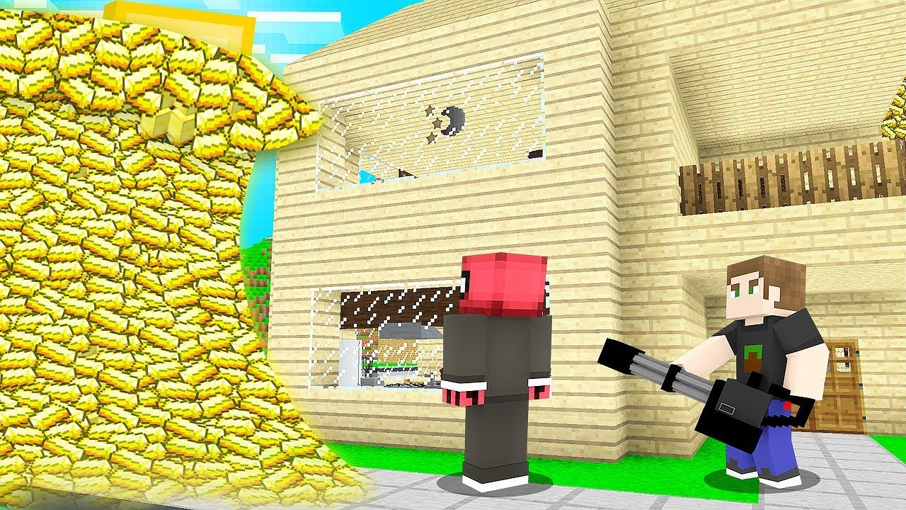 ALTIN TSUNAMİ VS EV! 🌊 - Minecraft