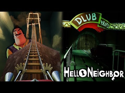 THE NEIGHBOR HAS A CREEPY ROLLER COASTER?! | Hello Neighbor [ACT 2 + Secrets]