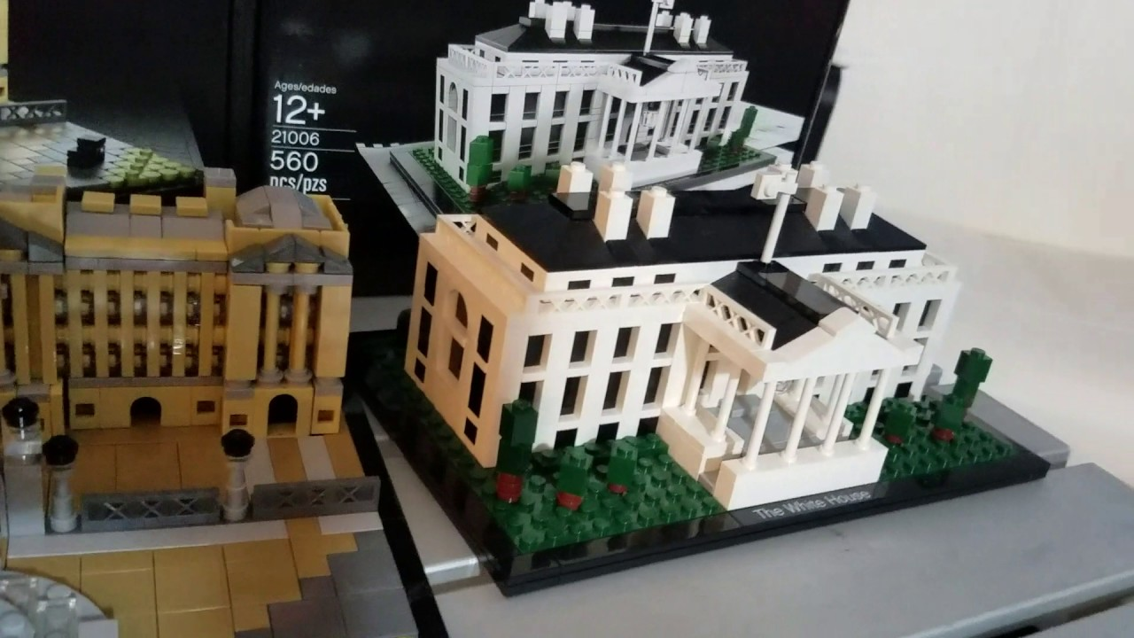 lego architecture buckingham palace vs. white house - youtube