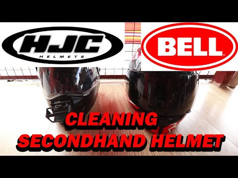 HOW TO PROPERLY clean your HELMET to make it brand new (HJC and BELL SECONDHAND helmet)
