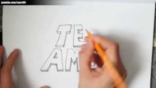Como dibujar en graffiti te amo