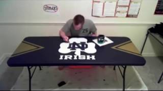 Beer Pong Table Painting Time Lapse