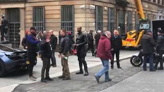 Hobbs & Shaw (Fast & Furious Spin-Off) Action Scene Filming - Glasgow - 24/10/2018