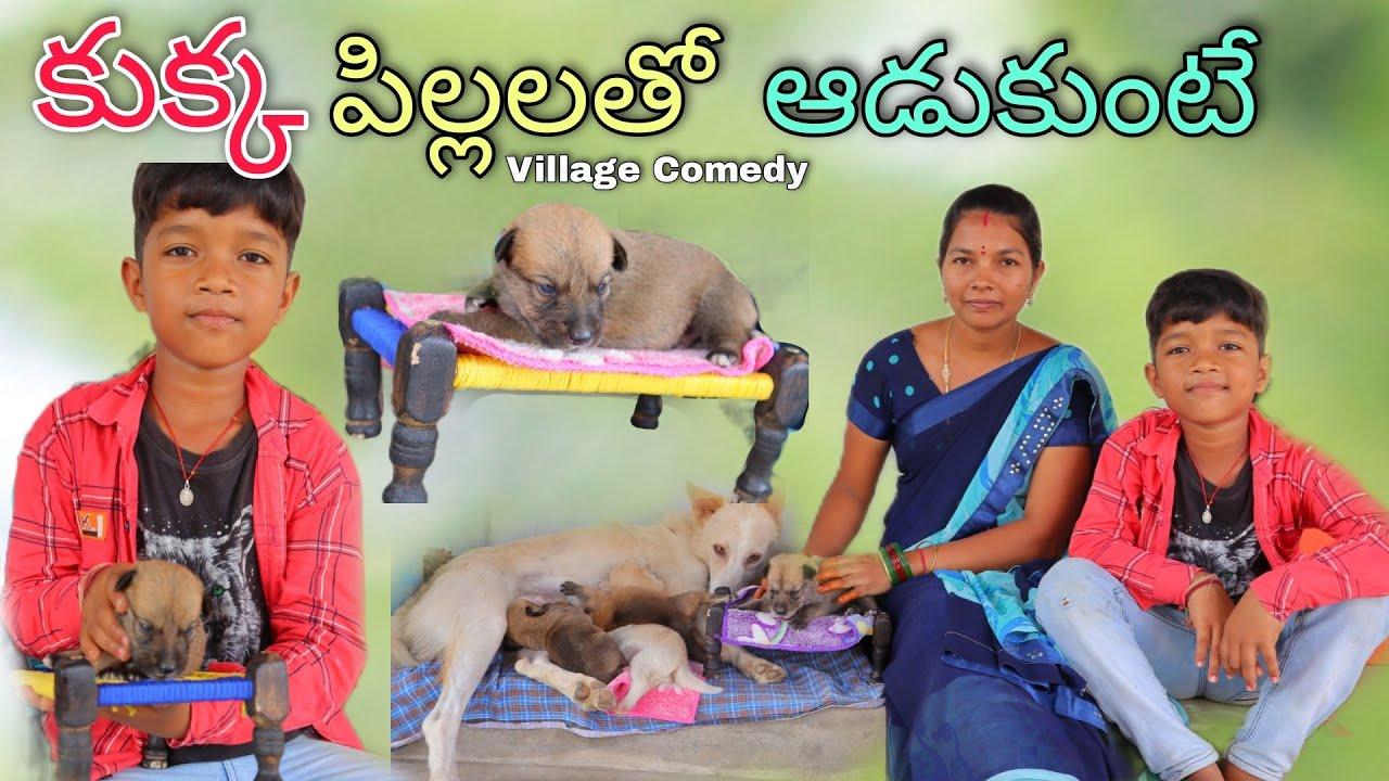 కుక్క పిల్లలతో ఆడుకుంటే | Kukka ki Pillalu pudithe | Kannayya Videos | Trends adda