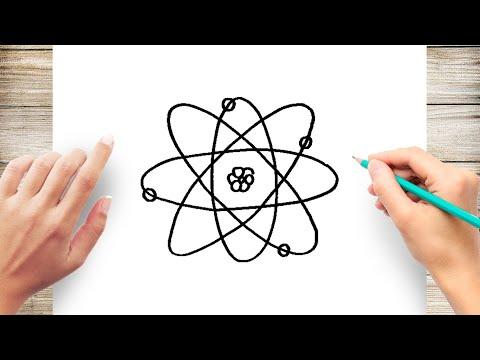 Как нарисовать атом