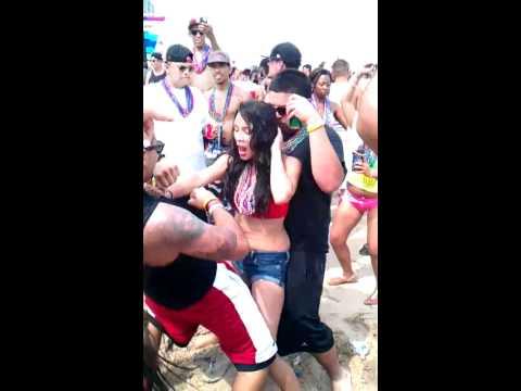 South Padre island spring break Drunk girl dancing