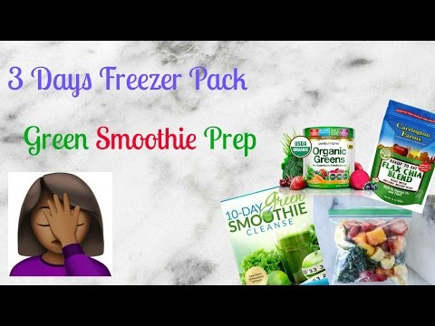 3 Days Green Smoothie prep| First Try| Fail?|🎗😍😘💜