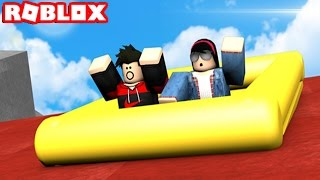 RIDE DOWN A VOLCANO IN ROBLOX