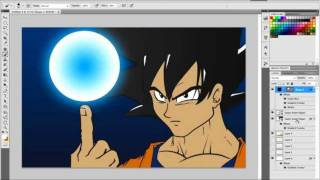 Illustrating Goku with PS and AI