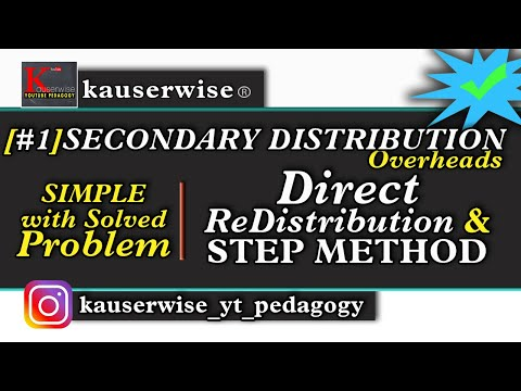 Secondary distribution of over heads [part-1] in cost accounting tutorial :-by Kauserwise