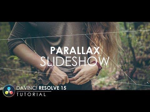 Parallax Slideshow Animation in DaVinci Resolve 15   DaVinci Resolve 15 Tutorial