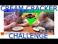Cream Cracker Challenge With Dad And Ants - Guinness world record - Its Like Eating Sand -  food