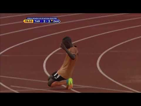Barbra Banda alipoizima Twiga Stars kwa kuifungia Zambia bao la tatu (Kufuzu Afcon)