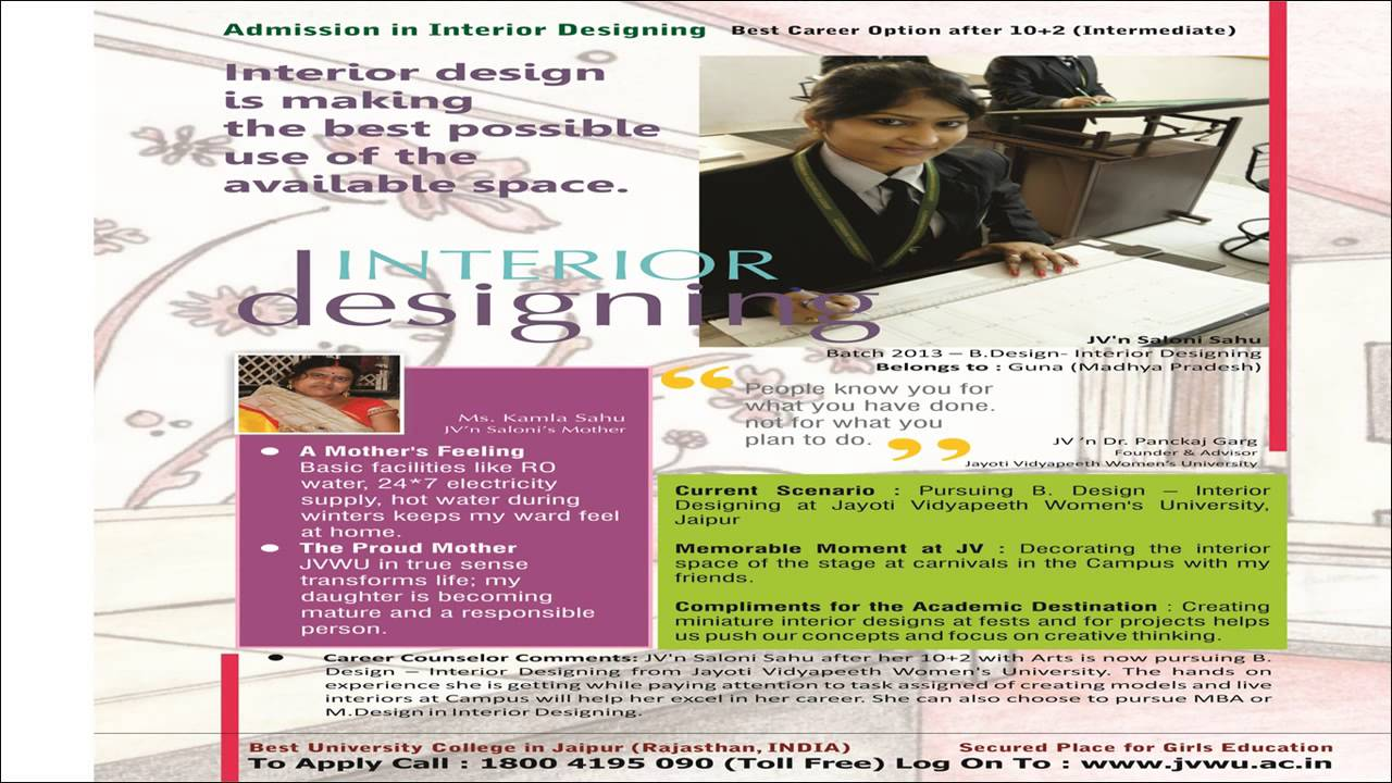 Admission In Interior Designing Jvwuacin