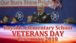 Bayside Elementary School Veterans Day Ceremony 2018