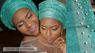 HOW TO BEAD YOUR GELE/HEADTIE - #DIYMonday | TheDIYLady