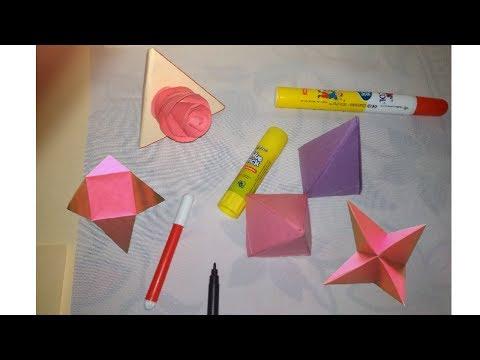 How to Make a Paper Pyramid    Square Based Pyramid    Rectangular Pyramid