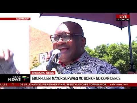 Ekurhuleni mayor survives motion of no confidence