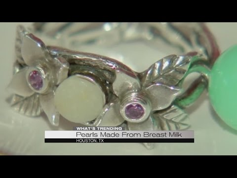 Pearls made from breast milk
