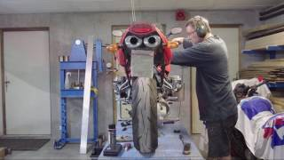 Table élévatrice maison / lève moto 3/3 - Synchro moteur R1100s.