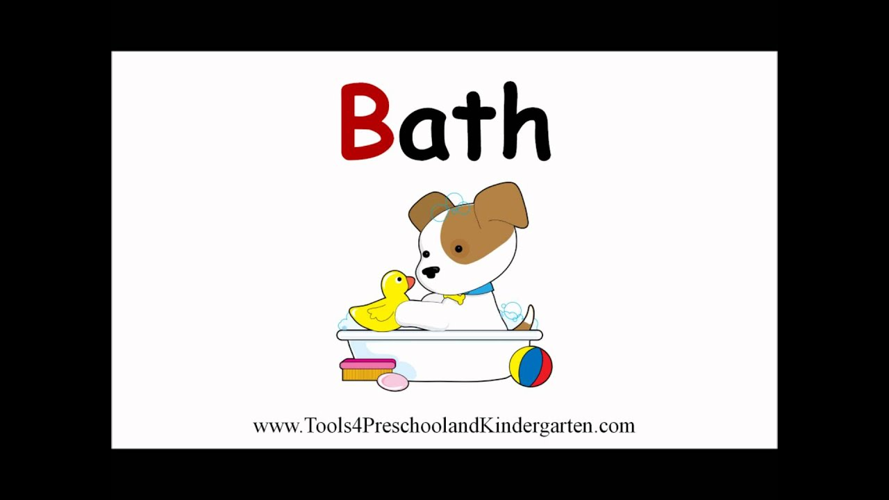 Teaching Words That Begin With The Letter B Video Book For Preschool