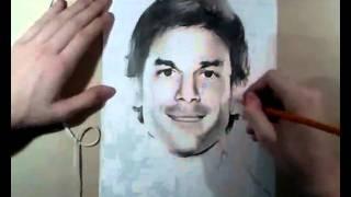 speed drawing Dexter Morgan